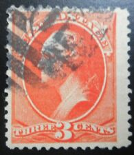 U.S.Stamp:Scott#214, 3c, Vermilion, The American Banknote Co., issue of 1887