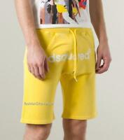 Dsquared2 Logo Yellow Jersey Shorts szL New Made In Italy Dsquared jogging pants