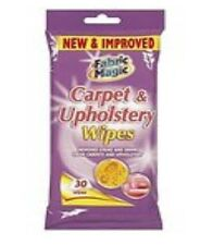 Carpet & Upholstery Wipes 30 Wipes Removes Stains & Grime Fabric Magic
