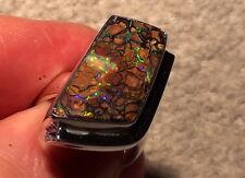 Handgefertigter Silberring 925 mit Blau-Grünem Yowah -Opal mit Video !!