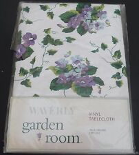 "Waverly Vinyl Tablecloth ~ GARDEN ROOM 70"" round NEW"