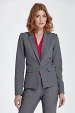 Veste de Costume tailleur Femme grise Smoking Taille 38 Nife Z21