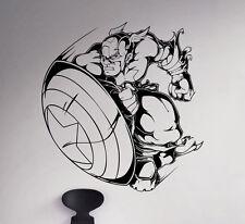 Captain America Wall Decal Marvel Comics Vinyl Sticker Home Art Decor 2(nse)