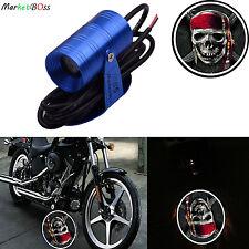 Universal Motorcycle skull Logo Projector LED Light Spotlight Ghost Shadow Lamp