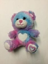 "Build A Bear Smallfrys Furever Hearts Small Stuffed Plush BAB Tie Dye 7"""