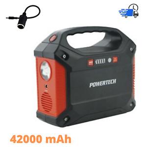 Multifunction POWERTECH 42A Portable Power Centre Inverter USB Solar 155W 240V