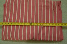 "By-the-Half-Yard, 36"" Vintage 1940's-60's Cream on Rosy-Pink Soft Cotton, M2225"