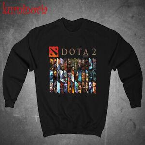 DOTA 2 Heroes Icon Logo Black Sweatshirt Size S to 3XL