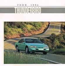 1994 Ford THUNDERBIRD Sales Brochure / Catalog: LX, Super Coupe, SuperCharged