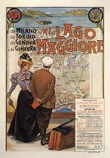 Lago MAGGIORE MILANO TORINO GENOVA Donà collegamento ferroviario manifesti a2 253