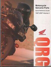 1997-2007 HONDA MOTORCYCLE & ATV QRG QUICK REFERENCE GUIDE PARTS MANUAL  (949)
