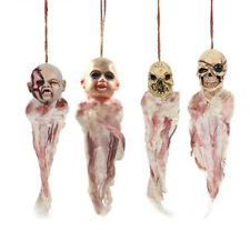 Zombie Head Halloween Party Prop Hanging Decoration Cosplay Scary Haunted J