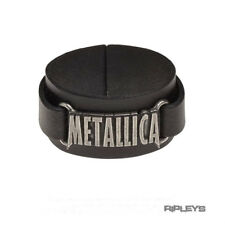 Official Alchemy METALLICA Leather Buckle Wristband Strap Metal Logo