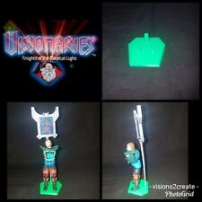 Visionaries knights of the magical light action figure stands (8) display toys