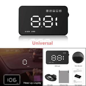 "1X 3.5"" OBD2 II Car GPS HUD Head Up Display Plug and Play Overspeed Speedometers"