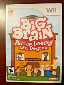 BRAND NEW - Big Brain Academy Wii Degree (Nintendo Wii 2007) Factory SEALED Game