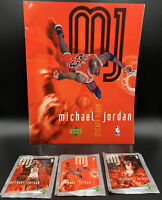 1998 UPPER DECK ALBUM STICKER MICHAEL JORDAN Empty with 3 sticker packs !