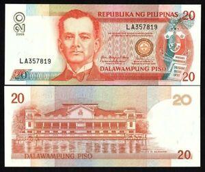 PHILIPPINES 20 PESOS UNC NOTE 2009 BANKNOTE PAPER MONEY P-182