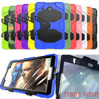 "Heavy Duty Military Rugged Hybrid Case For Samsung Galaxy Tab E 9.6"" T560 Tab A"