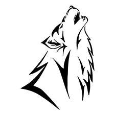 2 x heulender Wolf 1 Tribal Aufkleber  Decal Sticker Decals 12 x 17 cm