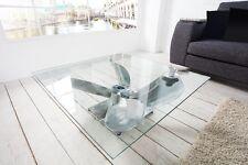 Design Lounge Couchtisch MARITIM Aluminium Glas 85cm Propeller Schiff Hafen NEU
