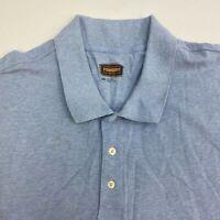 Foundry Polo Shirt Mens 4XL XXXXL Blue Short Sleeve 100% Cotton Regular Fit Big