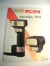 Metz Mecablitz 1993 Catalog Guide Speedlights Flashes + accessories---M3