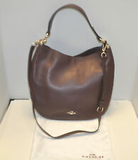 COACH #54446 Nomad Crossbody Glovetanned Leather Bag Burgundy NEW