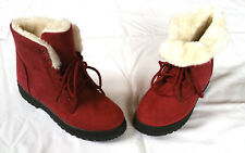 NEW SQL Womens Mules Slip-On Shoes Red L 8 Euro 40 Fleece Lined