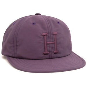 Huf Worldwide 6 Panel Cap Camp Snapback Dad Hat Formless Classic H Plum