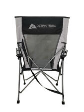 Camp Rocking Chair Oversized Folding Patio Lawn Reclining Camping Fishing Seat