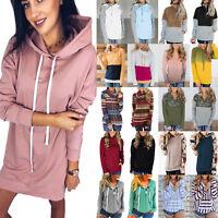 Women's Long Sleeve Hoodie Sweatshirt Ladies Casual Jumper Pullover Tops Blouse