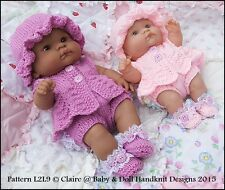 "BABYDOLL HANDKNIT DESIGNS KNITTING PATTERN LL9 14"" LOTS TO LOVE BERENGUER DOLL"