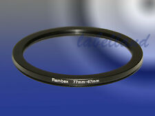77mm-67mm 77-67 Filter Adaptor Ring Converts 77mm lens thread to 67mm Step-Down