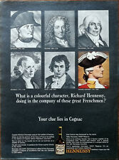 Hennessey Cognac Colourful Character Richard Hennessey Great Frenchmen Ad 1965