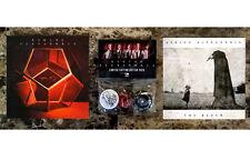 Asking Alexandria S/T + The Black Ltd Ed Pins & Stickers Lot +Free Rock Stickers