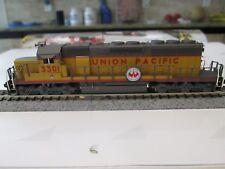 Custom Detailed Kato EMD SD-40-2, DCC, N Scale Diesel Engine UP #3301