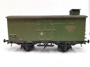 Rai-Mo 200 110 - 1 bayrischer gedeckter Güterwagen grün Ep. I  k.bay.Sts.B