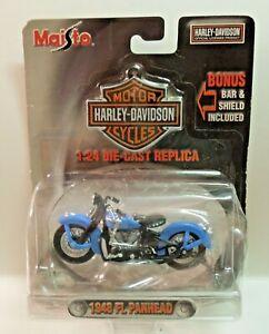 Maisto 1948 48 FL PANHEAD HARLEY DAVIDSON MOTORCYCLE 1:24 DIECAST