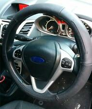 Steering Wheel Cover Genuine Black Leather Soft Grip Driving Aid For Volvo
