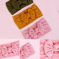 Knit  Wide Band Head Wraps  Nylon Headband Baby Girls  BowKnot  Bow Hairband