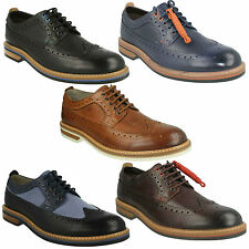 PITNEY LIMIT MENS CLARKS LEATHER LACE UP FULL BROGUE FORMAL OFFICE WEDDING SHOES