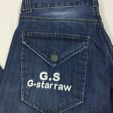 G-Star Raw Denim 96 Elwood Jeans Sz 30 x 30 Straight Leg GS Flip Pocket.