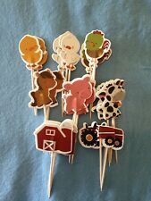 Cupcake Cake Toppers Farm Animals 24pcs