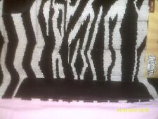 Saddle Pad Tough 1's Zebra Print Wool with Fleece Bottom 36' x 34'