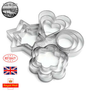 12Pcs Cookie Cutter Stainless Steel Biscuit Mould Pastry Baking Cake DIY Decors
