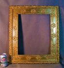 Picture+Frame+Gold+14+x+17+in.+Late+1800%60s+Wreaths+%26+Garland+Primitive+Reliefs
