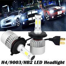 H4 Hi/Lo COB LED Cree 200W Auto Scheinwerfer Kit Weiß Globes Birnen Satz Lampen