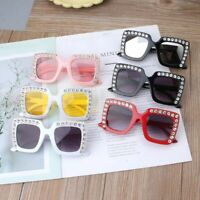 Luxury Rhinestone Kids Sunglasses Square Sun Glasses Children Baby Sunglasses
