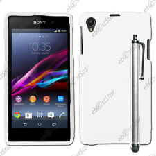 Housse Etui Coque Silicone Motif S-line Blanc Sony Xperia Z1 L39H + Stylet
